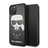 KARL LAGERFELD IPHONE 11 PRO  EMBOSSED COVER HÁTLAP, TOK, FEKETE