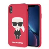 KARL LAGERFELD IPHONE XR SILICONE KARL ICONIC FULL BODY HÁTLAP, TOK, PIROS