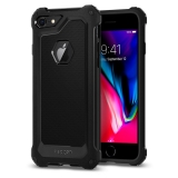 Spigen iPhone 7 / 8 / SE (2020) Rugged Armor Extra ™ fekete tok