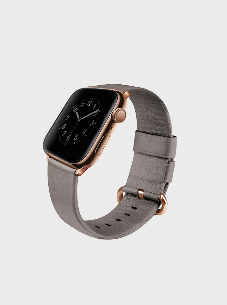 Uniq Mondain Apple Watch  bőr szíj szürke 42/44 mm