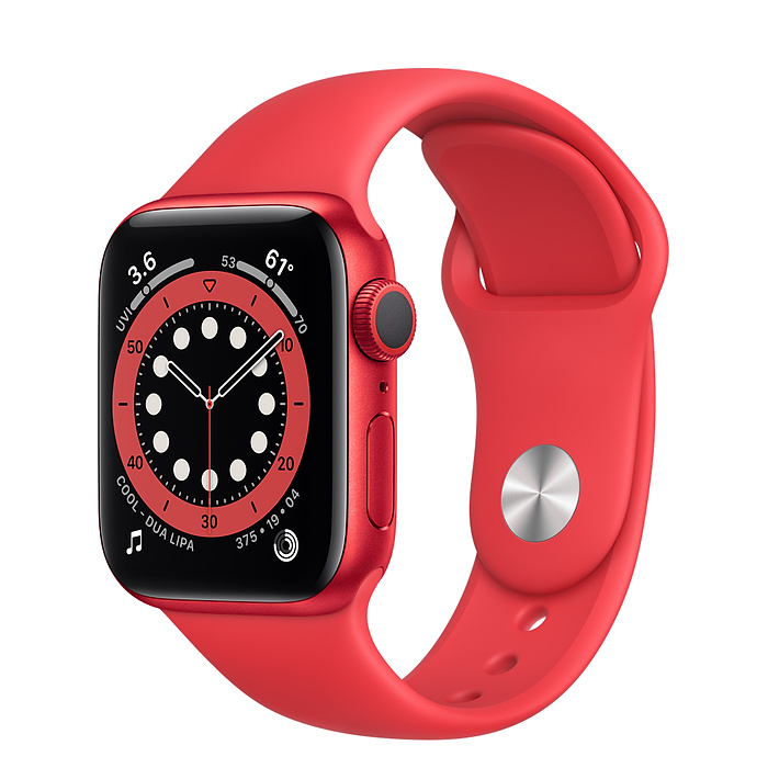 Apple Watch Series 6 40mm Product Red alumíniumtok, piros sportszíj