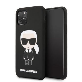KARL LAGERFELD IPHONE 11 PRO SILICONE KARL ICONIC FULL BODY TOK, FEKETE