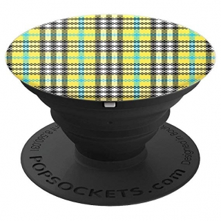 Popsocket Yellow Tartan