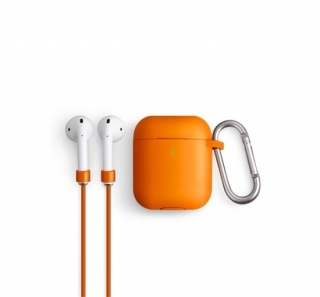 Uniq Vencer Apple AirPods tok + nyakbaakasztó narancs