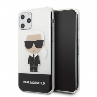 Apple iPhone 11 Pro KARL LAGERFELD Hátlap- Fekete