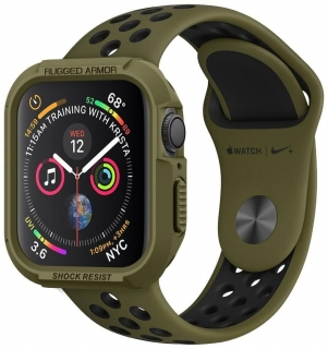 Spigen Apple Watch 44mm Rugged Armor óratok olivazöld