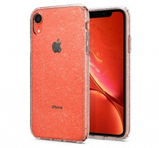 Spigen Liquid Crystal Glitter Apple iPhone XR Crystal Quartz tok, átlátszó