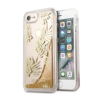 Guess Palm Springs Glitter Liquid iPhone 6 / 6S / 7 / 8 / SE (2020) tok, arany