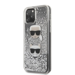 KARL LAGERFELD IPHONE 11 PRO KARL AND CHOUPETTE GLITTER HÁTLAP, TOK, EZÜST