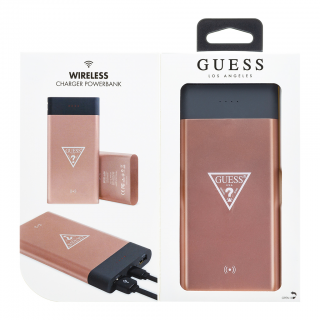 QI 8000 Guess Powerbank Pink