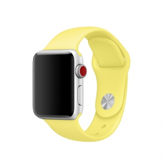 Apple Watch-sportszíj 42/44 mm citromsárga színben