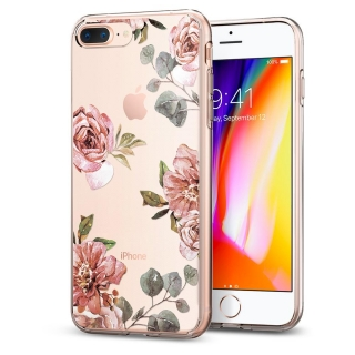 Spigen iPhone 8 Plus/7 Plus Liquid Crystal ™ Aquarelle Rose tok